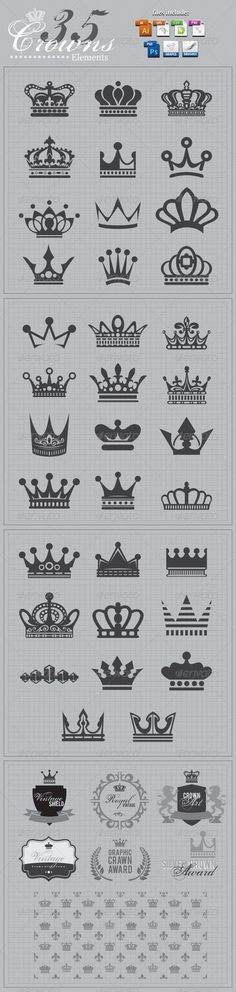 Dimonds Tattoo : Crowns+Elements+v2 More https://buymediamond.com/tattoo/dimonds-tattoo-crownselementsv2-more/ #Tattoo