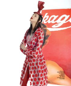 red in the times of quirkiness: clarice silva vitkauskas by gianluca santoro for l'officiel india february 2015
