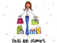 Carries Kiddie Closet Shopping Diva Personalized Note Cards