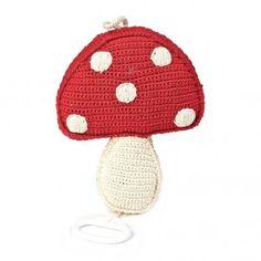 Boîte à musique champignon Rouge  Anne-Claire Petit 43 euros