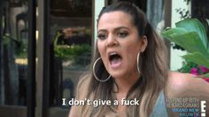 When people tell you you're too old to be reading YA novels.   24 Khloe Kardashian Reactions To Get You Through Life