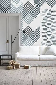 Wallpaper Ideas for the Living Room graphic lines