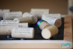 DIY Wedding Favors | Wine Cork Magnets | http://craftymothertrucker.com
