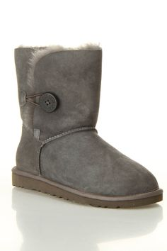 Ugg w bailey button boot in gray beyond the rack