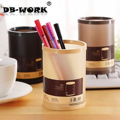 창조적 인 DIY 펜 홀더 학생 문구 상자 한국의 자연 우수한 플라스틱 단색 펜 컨테이너
