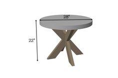 Concrete X-Brace Side Table   Dimensions