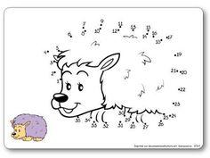 http://dessinemoiunehistoire.net/Relier les points de 1 à 35 : le hérisson