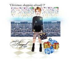 """""""""""Christmas shopping already """"?"""" by onesweetthing ❤ liked on Polyvore featuring art"""