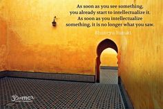 As soon as you see something...it is no longer what you see
