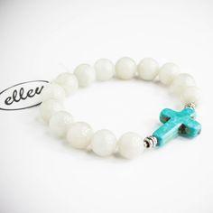 bransoletka na gumce Beaded Bracelets, Jewelry, Jewlery, Bijoux, Pearl Bracelets, Schmuck, Jewerly, Jewels, Jewelery