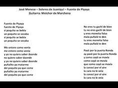 José Menese - Soleares de Juaniquí (Lebrija) - Fuente de Piyaya