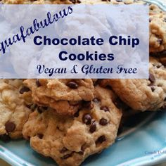 Aquafab-ulous Chocolate Chip Cookies. Vegan and Gluten Free