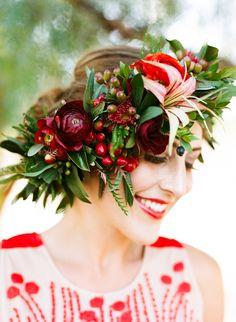Rustic, red wedding inspiration