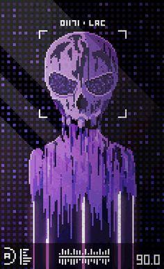 Exo by Valenberg on DeviantArt Pixel Art Gif, Pixel Art Games, Arte 8 Bits, Pixel Art Background, Pixel Characters, 8 Bit Art, Cyberpunk Aesthetic, Video Game Art, Art Inspo