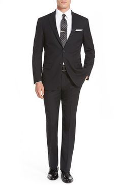 Hart Schaffner Marx 'New York' Classic Fit Solid Wool Suit
