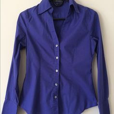 Express long sleeved button down Purple long sleeved button down. 77% cotton, 20% nylon, 3% spandex. All items in my closet are negotiable, make an offer! Express Tops Button Down Shirts