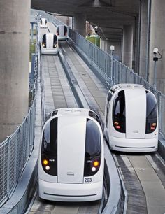 Oh, this IS fun! On our way to Florence. And another pod...the Ultra Pod. the driverless electric car transport system at Heathrow Airport.
