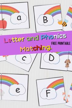 Adorable FREE printable from A Little Pinch Of Perfect matching letters and practicing phonics. Simple print and cut apart to get started. Laminate if you want them to last a long time and most of all remember to have fun learning! Bringing you great free printables, learning activities, inexpensive craft ideas, and more A Little Pinch Of Perfect your source for early learning resources! Printable Activities For Kids, Reading Activities, Free Printables, Early Learning, Fun Learning, Teaching Kids, How To Teach Kids, Letter Matching, Little Dragon