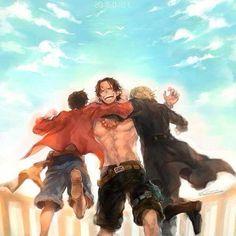 Jo, he visto esta imagen y de repente me ha dado pena pensando que lo mas seguro es que Ace se muriese sin saber que Sabo estaba vivo... T-T