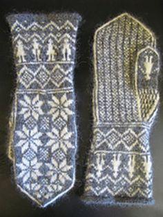 Knitted Mittens Pattern, Crochet Mittens, Fingerless Mittens, Knitted Gloves, Knitting Charts, Knitting Socks, Hand Knitting, Knitting Patterns, Wrist Warmers
