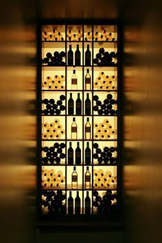 Lighted wine rack - something cool for in a storage cupboard