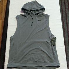 bd4f36e9 Men's NIKE Dri Fit Sleeveless Training Hoodie Size XXL Grey (742618 06 –  LoneSole Sleeveless