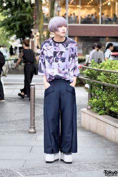 Harajuku Guy w/ Lavender Hair in Chloma, NIIMI & Platform Vans