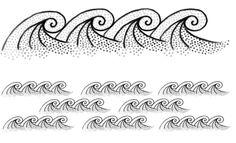 Lose waves - Design by ku mi ko [ #tattoo #design #drawing #wave #dots ]
