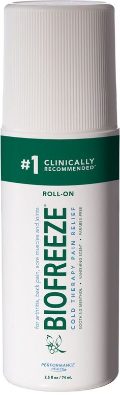 Relieve pain from injuries or muscle soreness easily, without the mess with Cramer® Biofreeze Roll-On Pain Relieving Gel. This gel is a topical pain reliever that works fast to relieve arthritis pain, backaches, and sore muscles and joints. Biofreeze Gel penetrates deeply for long-lasting relief. Fast, Lasting Relief Topical, roller ball gel that cools to relieve pain Smooth gel with soothing menthol (4%) Free of parabens and propylene glycol For temporary #SmallBumpsOnFace Sciatic Pain, Sciatic Nerve, Nerve Pain, Vitamins For Nerves, Tooth Nerve, Chiropractic Treatment, Skin Bumps, Medical Prescription