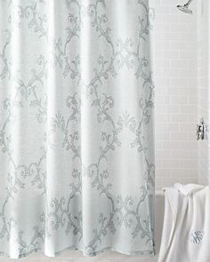 Bed Bath Beyond Dual Curtain Liner Translucent Stripe At Top Allows Light Into Shower Snaps Onto Curta