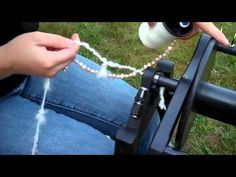 How to Spin Beads Into Yarn - YouTube