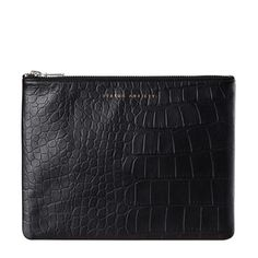 Anti-Heroine Clutch Black Croc