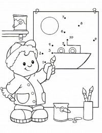 Little People Coloring Pages 19