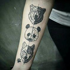 grafika tattoo, animal, and bear