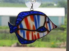Stained Glass Tropical Fish Suncatcher by QTSG on Etsy