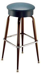 """The Spring Cushion Bar Stool is made for comfort and durability. It has a heavy 18 gauge tubular steel frame, a spring cushion padded seat for extra comfort, and a 360 degree swivel. It is available in both the 24"""" and 30"""" heights and in a variety of colors. The bar stool frame is available in black with a chrome footrest or in all chrome (30"""" height only). Be comfortable with the Spring Cushion Bar Stool!  Weight: 18lbs  Seat Height: 24"""" or 30""""  Seat: 16"""" Diame..."""
