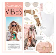"""""""Summer Vibes"""" by karolinapl ❤ liked on Polyvore featuring La Revêche, Wildfox, Gentle Monster, Lord & Taylor, Chanel, Hollister Co., Gucci, Loren Stewart and Natasha Schweitzer"""