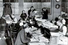 Sub-editors on the Daily Mail, Fleet Street,  in the 1930s