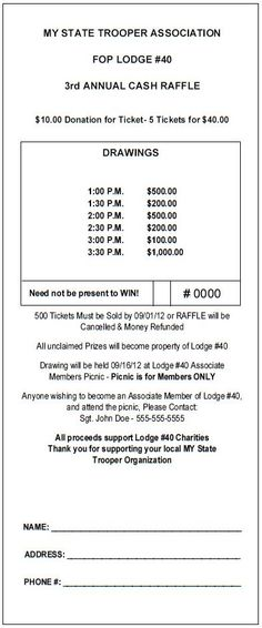 Printable Blank Raffle Tickets | Free Raffle Ticket Template for ...