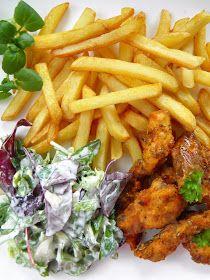 sio-smutki! Monika od kuchni: Domowe nuggetsy z piekarnika (fit) Tandoori Chicken, Carrots, Meat, Vegetables, Ethnic Recipes, Amanda, Dinners, Food, Dinner Parties