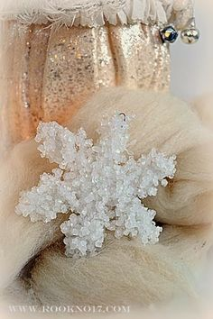 *Rook No. 17: recipes, crafts & whimsies for spreading joy*: Holiday Magic: Fancified Borax Crystal Snowflakes {and Candle-lit Centerpieces}...