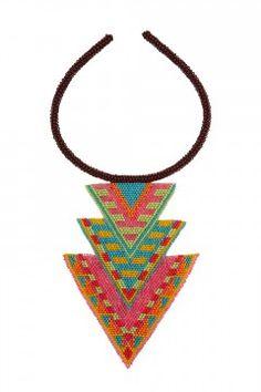 Spirit Necklace by Mara Hoffman   bead pattern