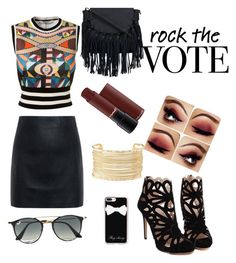 """""""how to be rock"""" by indrianissolihah ❤ liked on Polyvore featuring Givenchy, McQ by Alexander McQueen, Casetify, Charlotte Russe and Ray-Ban"""