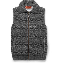 Missoni Textured-Knit Wool-Blend Gilet