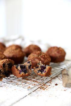 Blueberry, apple & buckwheat muffins Dairy, gluten & refined sugar free