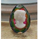 Vintage Swarovski Glass Cameo Woman's Head