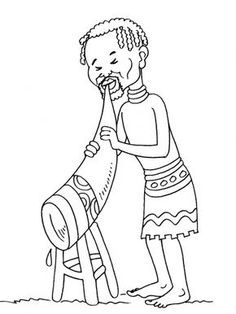 African World Music Preschool Coloring Pages, Colouring Pages, Coloring Pages For Kids, Coloring Worksheets, Tanzania, Africa Quotes, African Art Projects, Africa Tattoos, Africa Painting