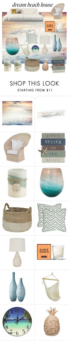 """""""dream beach house"""" by niccacole ❤ liked on Polyvore featuring interior, interiors, interior design, home, home decor, interior decorating, Pier 1 Imports, Safavieh, Henri Bendel and Lazy Susan"""