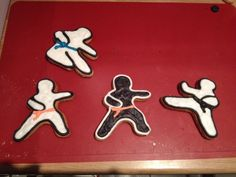 Ninjabread men! Made these for a karate Christmas party