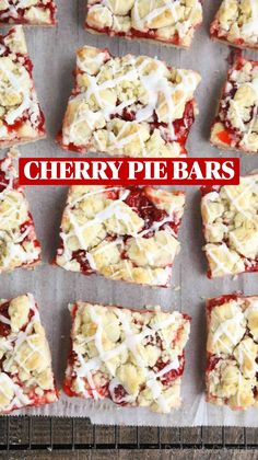 Cherry Recipes, Bar Recipes, Sweet Recipes, Baking Recipes, Recipies, Dessert Recipes, Dessert For Dinner, Dessert Bars, Cherry Pie Bars
